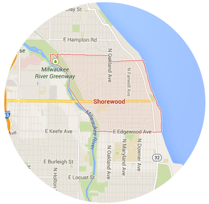 Shorewood Garage Door Service Areas