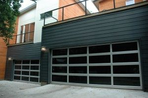 contemporary style glass garage door shorewood wi